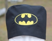 EMBROIDERED// scrub hat// BATMAN