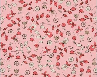 Pink Bird Fabric - It's A Girl Thing Sweet Tweet Pink by MIchael Miller CX5191 Bloom - 1/2 yard