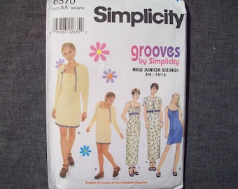 Simplicity 8570. Junior's dress and jacket pattern. Uncut and FF. Cute