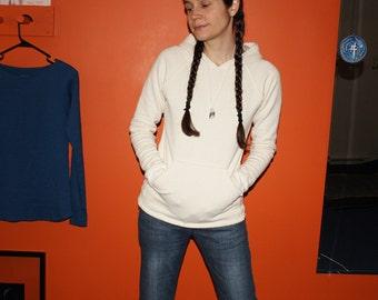hemp clothing - pullover raglan hoodie - 100% hemp and organic cotton - custom made to order