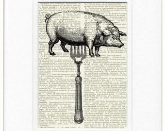 Pig, please don't eat my piggy print