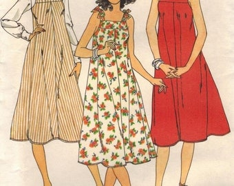 1980s Butterick 6048 Vintage Sewing Pattern Marie Osmond Sundress Jumper Size Petite Small