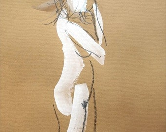 Nude painting- One Minute Pose XXVII.1- original painting by Gretchen Kelly