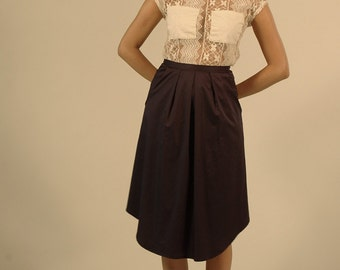 Polished cotton midi skirt- was 125CAD   Style:J01PE13
