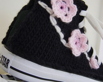 Cherry Blossom Knit Chucks