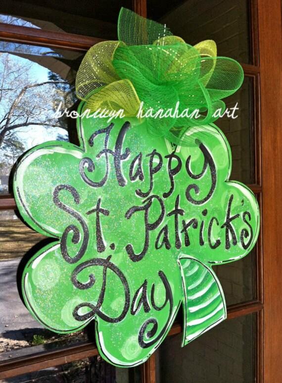 St. Patrick's Day Clover Door Hanger - Bronwyn Hanahan Art