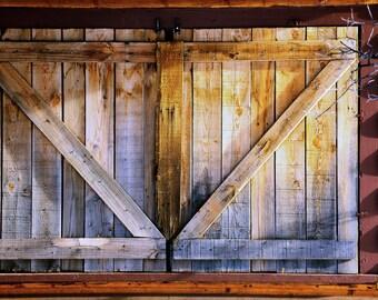 Shutters Window Rustic Logs Building Wood Siding Chalet Colorado Cabin Lodge Photograph