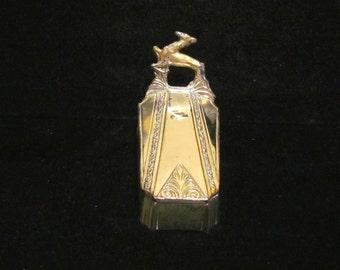 Vintage Powder Box Art Deco 1920s Powder Box Coffin Gazelle Weidlich Bros. Beauty Box Silver Plated EXTREMELY RARE