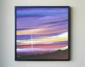 PURPLE SKY SUNSET Original Painting by Jack Schaar 24x24 Acrylic Fine Art