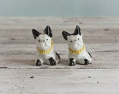 Pair of Boston Terrier Porcelain Dog Figurines