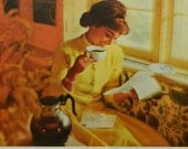 Coffee and Friendship - 1962 print and poem from American Coffee Institute, kitchen decor
