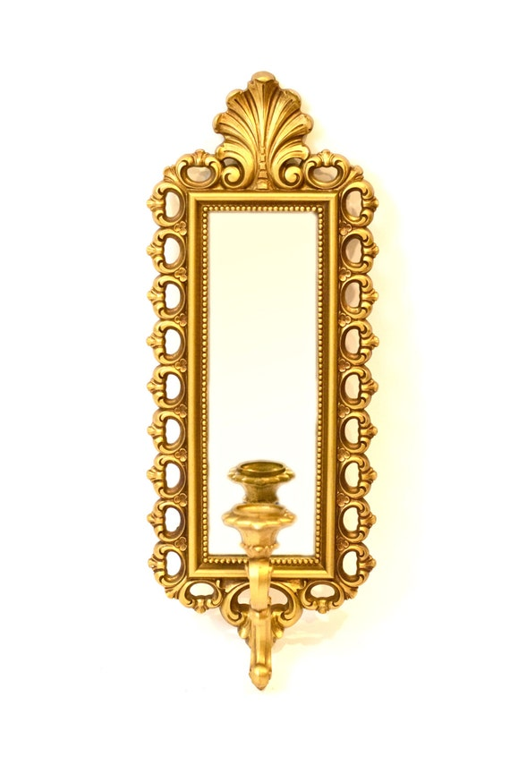 Mirrored Wall Sconce Candle Holder Decorative Wall Hook Wall