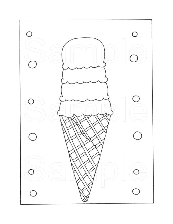 Ice Cream Coloring Pages Pdf : Items similar to ice cream cone printable coloring page