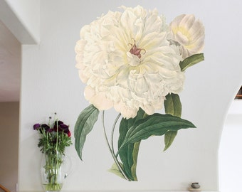 46in Peony - Flower Wall Sticker Decal