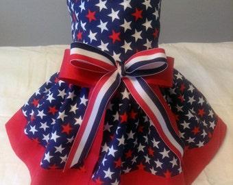 Stars Galore Patriotic Dog Dress