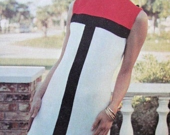 Colorblock Retro Dress