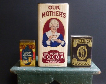 Vintage Advertising - Cocoa Tin