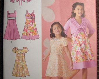 Simplicity Girl's Dress And Jacket Pattern 2683 - Size 3-4-5-6