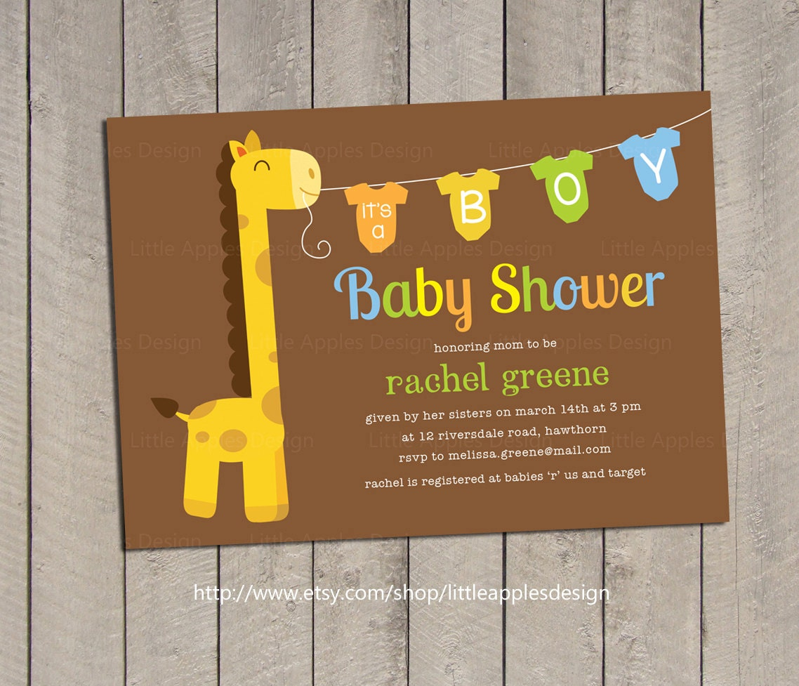 giraffe baby shower invitation giraffe baby shower invite