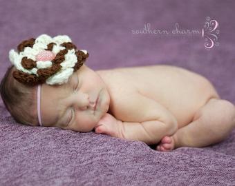 Flower Headband, Baby Headband, Newborn Headband, Toddler Headband, Infant Headband, Baby Hair Accessory, Crochet Headband