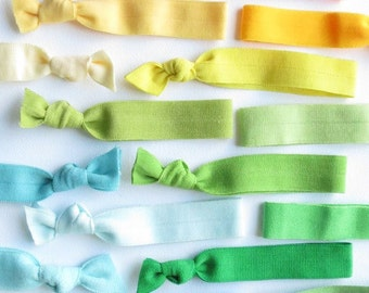 Elastic Hair Ties Grab Bag 10 Colors - What A Deal -  By The Cure For A Bad hair Day
