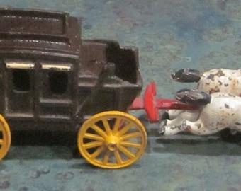 Cast Iron Stagecoach and Horses Toy 1950 Era