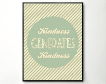 Inspirational quote, quote prints, quote posters, happy art, kindness, quote posters, poster, posters,