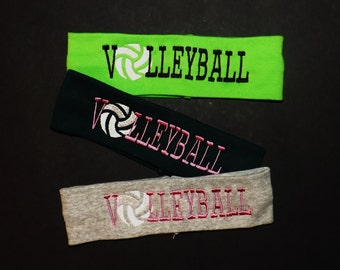 Clearance Set of 3 Embroidered Volleyball Headbands - Comes As Shown