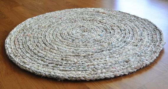 round crochet rug off white plus nursery bath kitchen