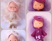 PDF pattern for Airy Fairy tunic dress, crochet beret  and vinyl skirt for vintage Strawberry Shortcake dolls