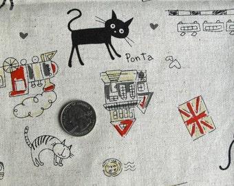 Brit KITTIES Fabric 1FQ (Black)