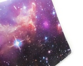 Passport cover - Outer Space - purple nebula astronomy themed passport holder - galaxy and stars, unisex men's or women's