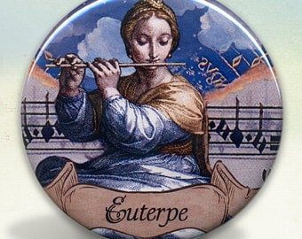 Euterpe Greek Muse Pocket Mirror
