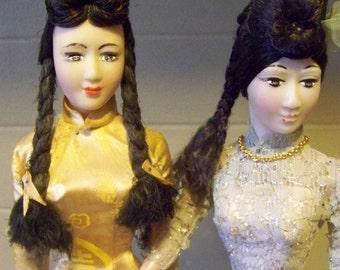 Vintage Vietnamese Dolls - set of 2