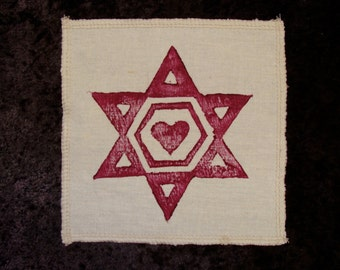 Sacred geometry Patch -Organic Cotton and Hemp