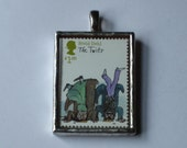 Postage Stamp Pendant - The Twits