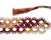 Tatted Bookmark - Antique Lace Design - Your Color Choice