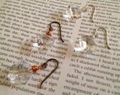 vintage crystal drop earrings