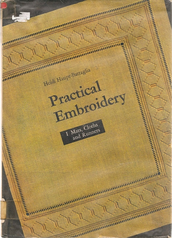 VINTAGE CRAFT BOOK Practical Embroidery I Mats, Cloths and Runners