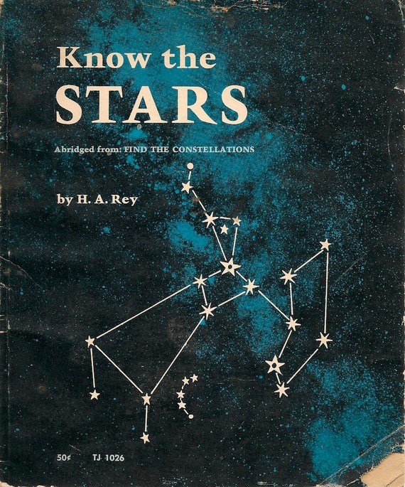 VINTAGE KIDS BOOK Know the Stars