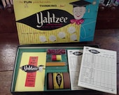 Vintage Yahtzee Game - includes all pieces and parts