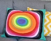 Rainbow Topography Pillow SALE