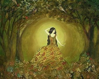 Summers Cauldron - Mythological Goddess Art 8x10 Print