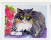 Gorbie the Cat -  Greeting Card, from my original painting, all occasion card, animal art, cat art, cat greeting card