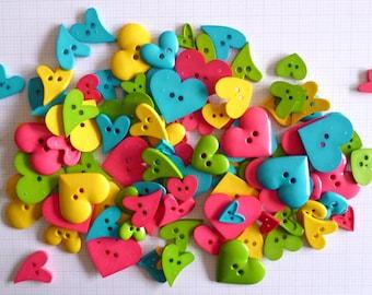 HEART buttons x100g