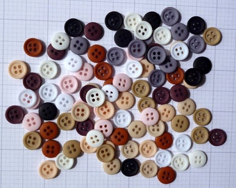 Teeny Tiny Buttons MIX BAG of 100 four hole