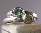 Gemstone Stacking ring - One Ring
