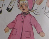 vintage Simplicity 9191 size 3 toddler Dress, Coat, & reversible hat PATTERN