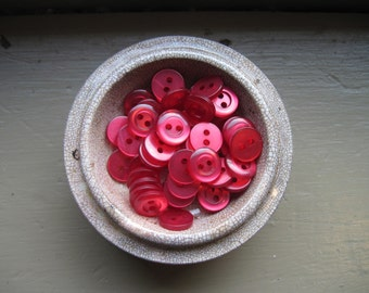 buttons set of 45 tiny and shiny reds