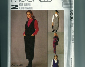 McCall's Misses' Jumper in Two Lengths and Shirt Pattern 9006